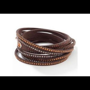 Wrap-Star bracelet Touchstone  Crystal SWAROVSKI